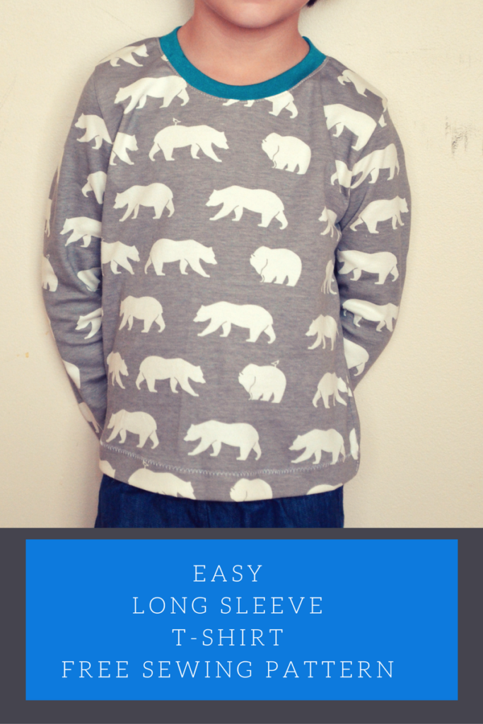Easy long sleeve t shirt free sewing patterns and tutorials for Long sleeve shirt pattern